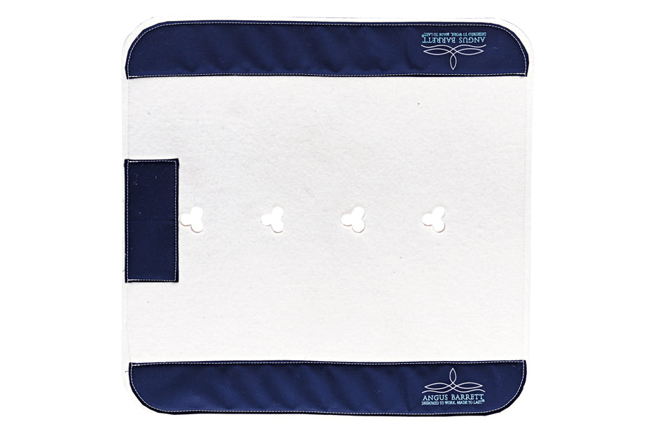 Angus Barrett Classic Standard Saddle Pad with Navy Trim