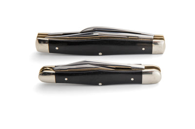 Robert Klaas 3 Blade Pocket Knife with Genuine Ebony Wood Handle - Made for Angus Barrett