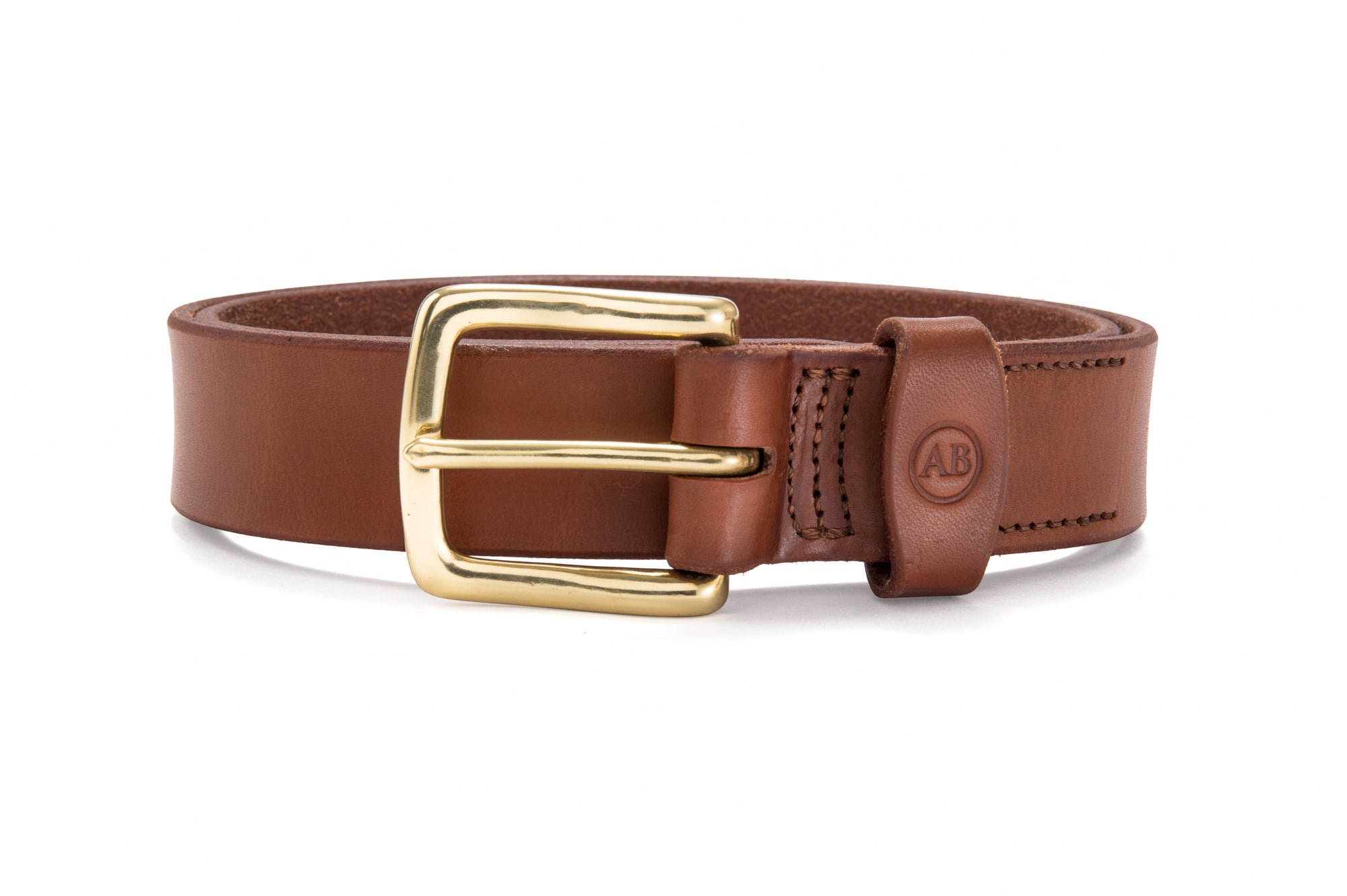 Brunet Belt - Natural - Brass