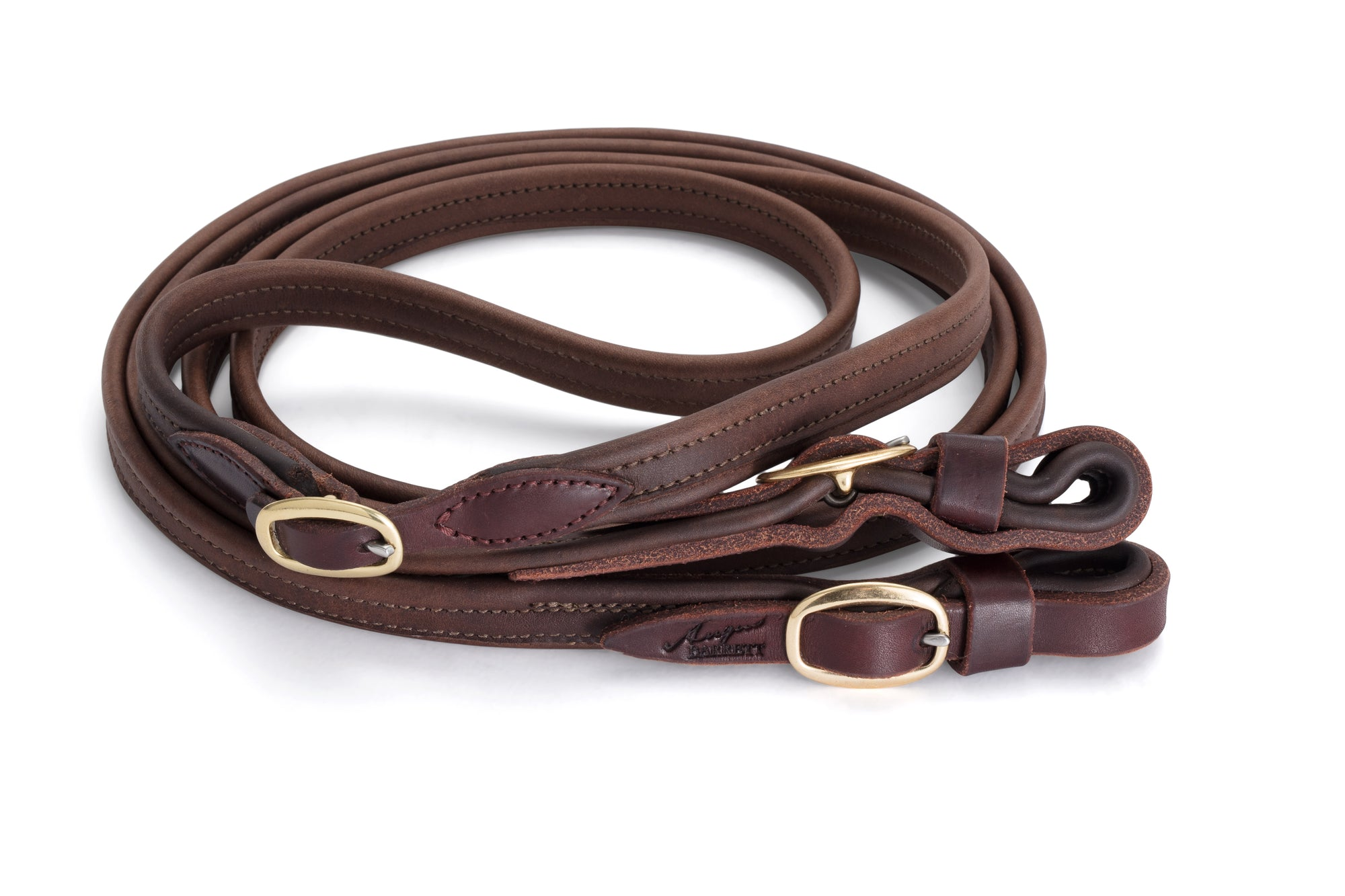 Joined French Leather Reins - Brown