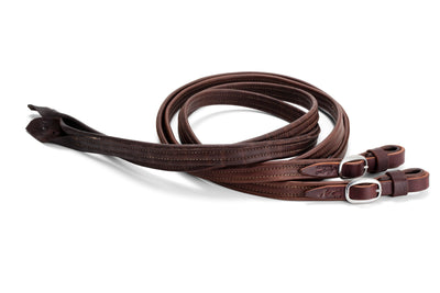 Angus Barrett French Leather Reins with Stainless Steel buckles