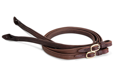 Angus Barrett French Leather Reins with Brass buckles