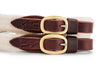 Angus Barrett Soft Cotton Reins - Dark Natural with Brass buckles