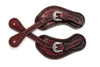 Angus Barrett Hand Carved Spur Straps with Floral Buckles