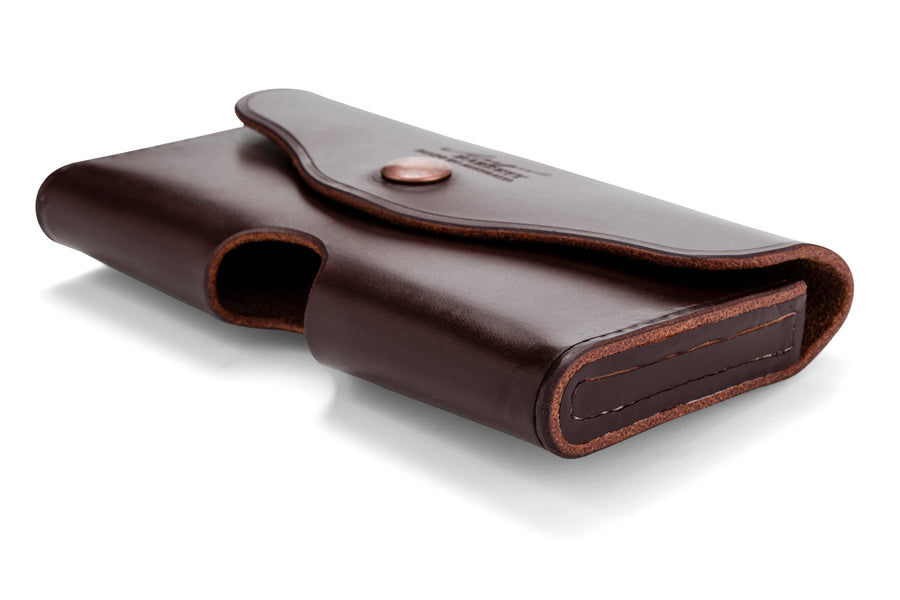 Angus Barrett Phone Pouch in Dark Brown