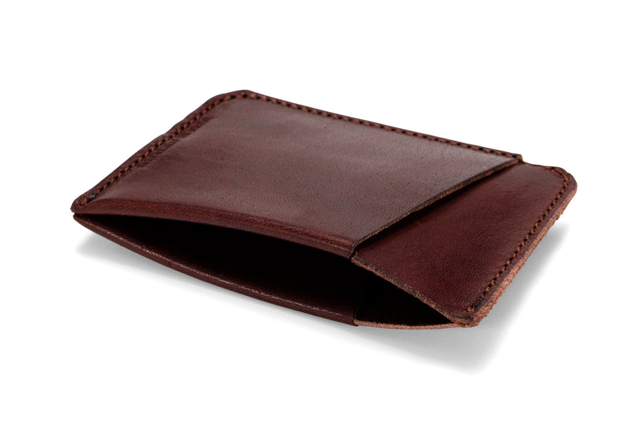 "Angus Barrett 'The Slip"" Card Holder in Brown Kangaroo Leather"