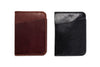 "Angus Barrett 'The Slip"" Card Holder in Black and Brown Kangaroo Leather"