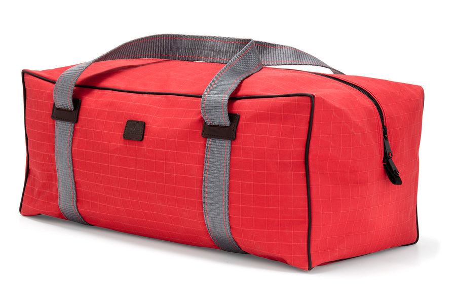 The Angus Barrett Medium Canvas Gear Bag in Red