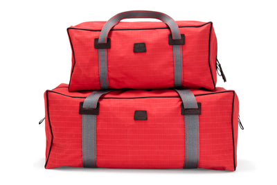 Angus Barrett Small and Medium Canvas Gear Bags in Red