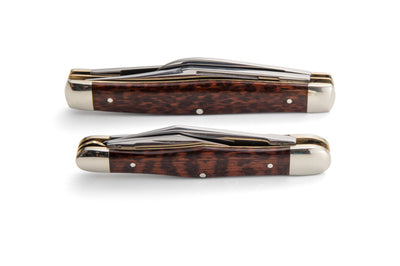 Robert Klaas 3 Blade Pocket Knife with Genuine Snakewood Handle - Made for Angus Barrett