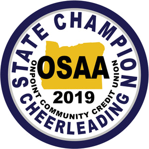 Cheerleading State Champion Patch