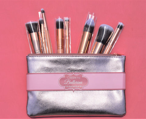 Beauty Creations 12 Piece Brush Set - Ballerina