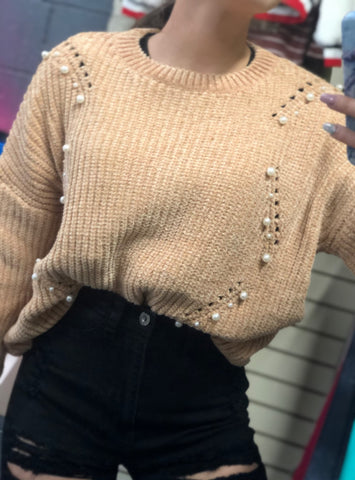 Janet Pearls Sweater