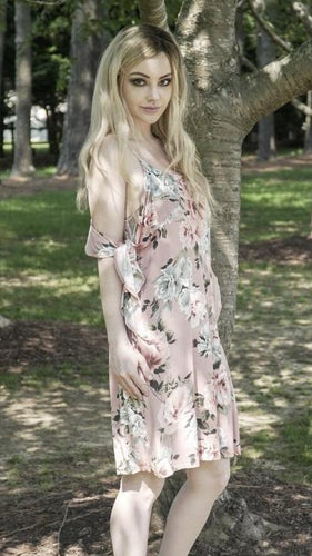 **FINAL SALE** Tie-Sleeve Floral Dress