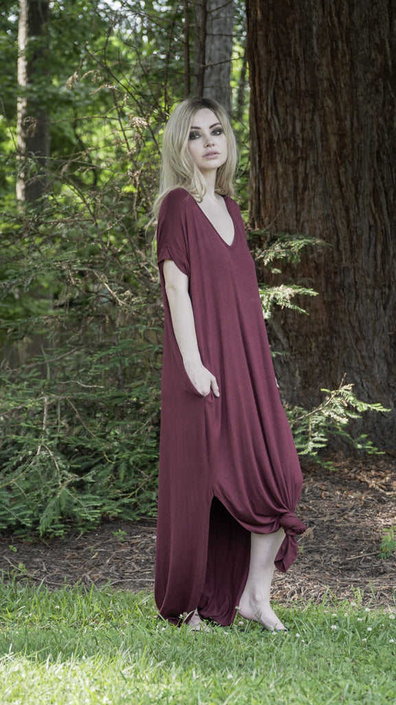 Side-Split Pocket Maxi Dress