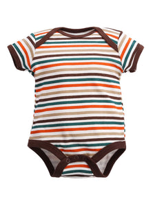 Retro Stripes Short-Sleeve Bodysuit