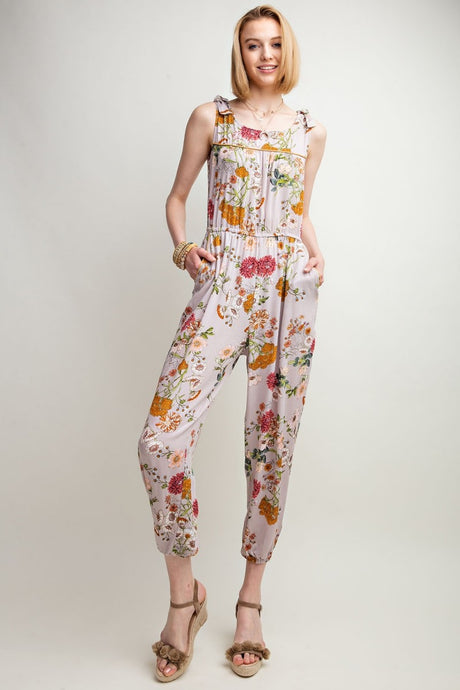 Floral Pocket Jumpsuit