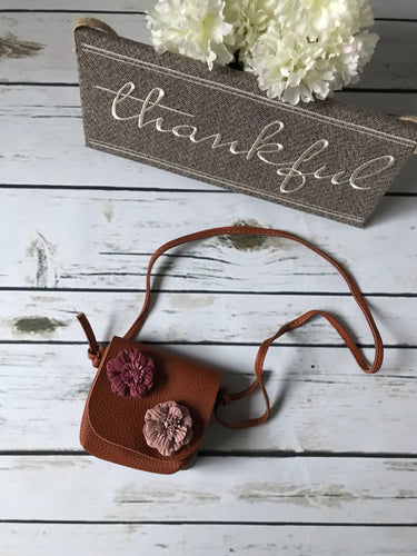 Flower Faux Leather Purse
