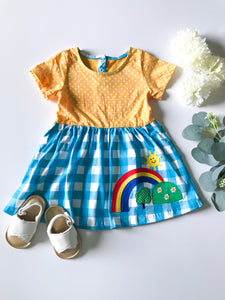Rainbow Flare Dress, Girl