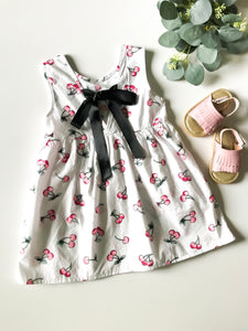 Cherry Ribbon-Detail Dress