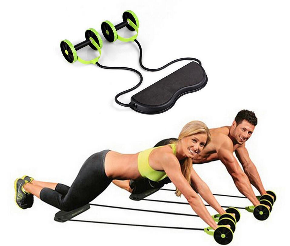 Revoflex Xtreme Rally multifunction pull rope wheeled health abdominal muscle training home fitness equipment
