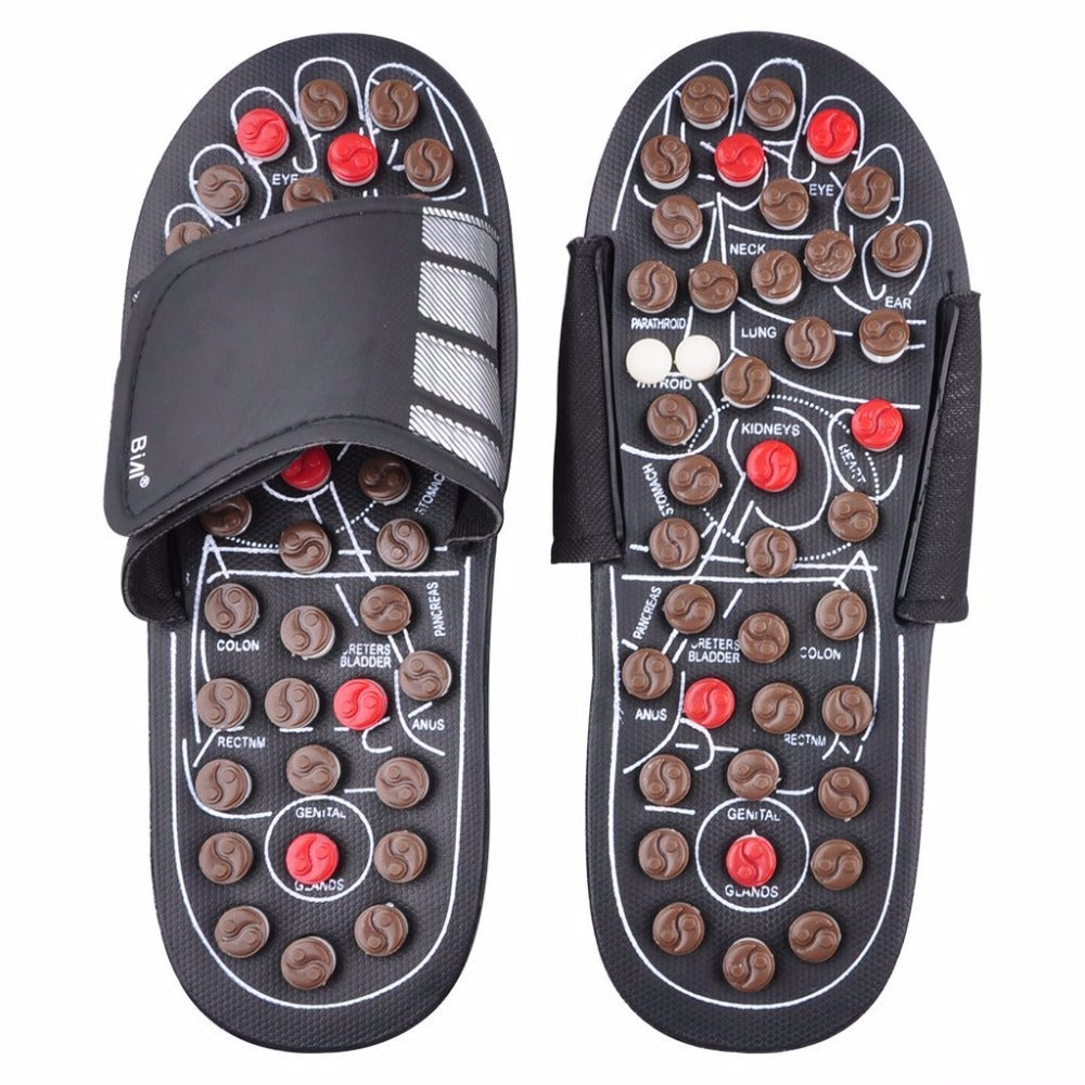 New Foot Massage Slippers Health Shoe Sandal Reflex Rotating Acupuncture Foot Healthy Massage Shoes