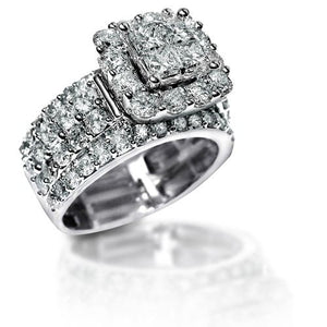 new 22 ct stunning zirconia solid 925 sterling silver halo wedding ring elegant jewelry for women - Halo Wedding Ring