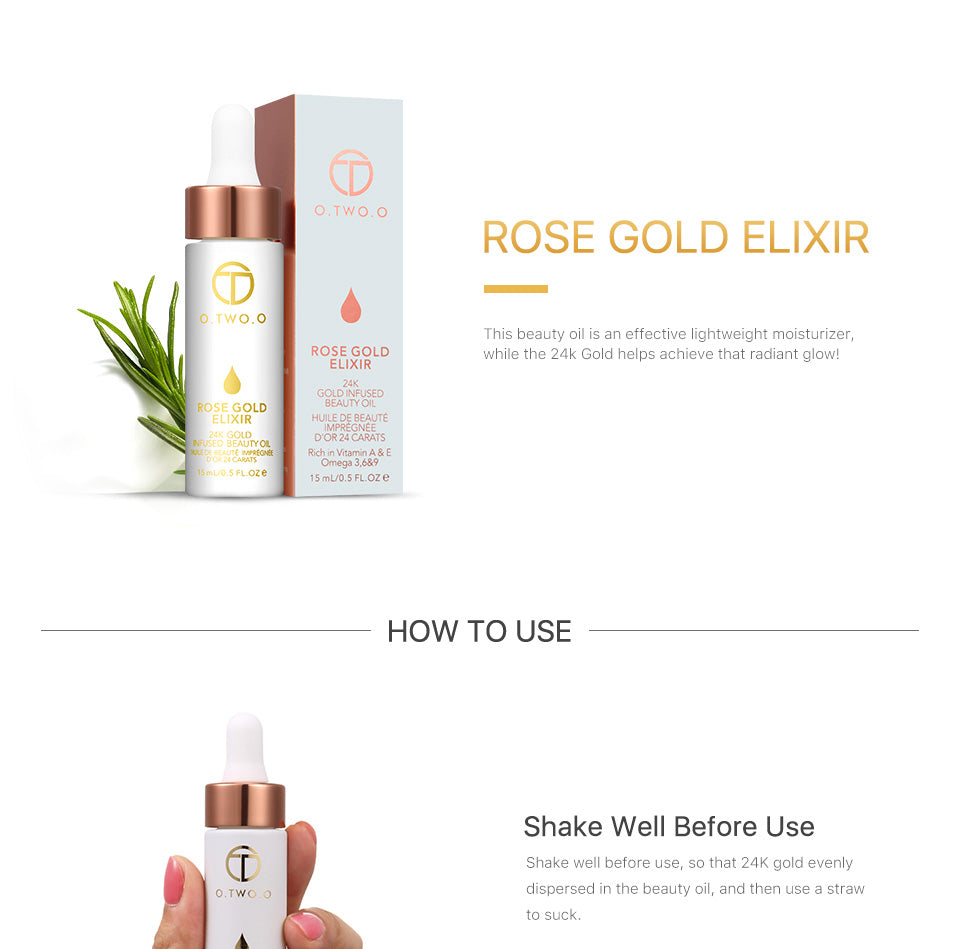 24k Rose Gold Elixir Skin Make Up Oil