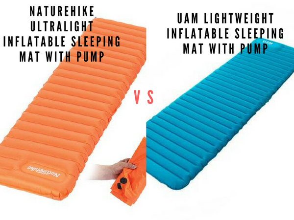 Naturehike Ultralight Inflatable Sleeping Mat with Pump vs. UAM Lightweight Inflatable Sleeping Mat with Pump
