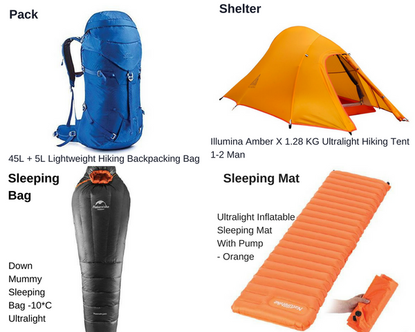 Hiking Ultralight With The Big Four Gear