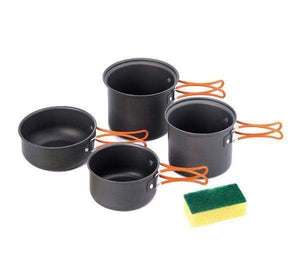 Updated Camping Cooking Set Pots - 4Pcs-Novaprosports