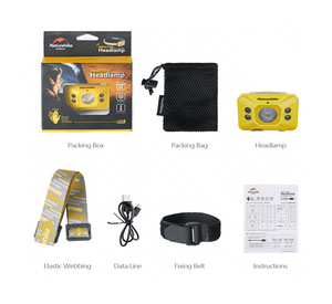 Portable Rechargable Inductive Headlamp Lamp - Gray-Novaprosports