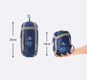 Compact Ultralight Sleeping Bag Naturehike 0.87kg Large – Dark Blue (Right)-Novaprosports