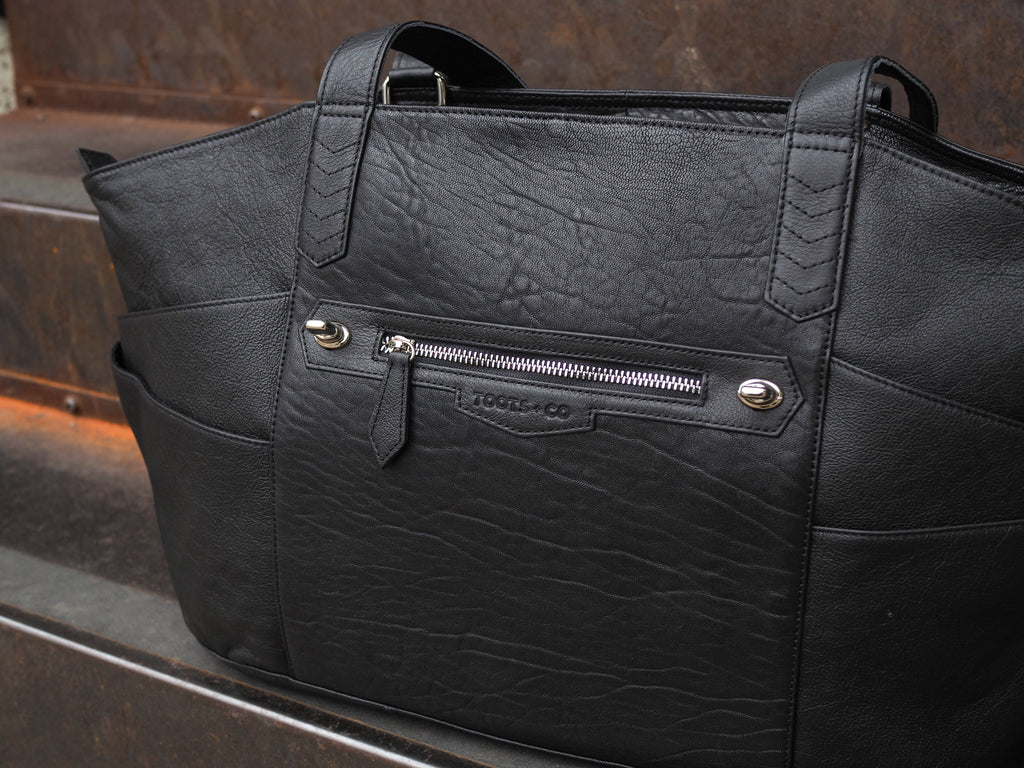 australian designed leather nappy bag bag