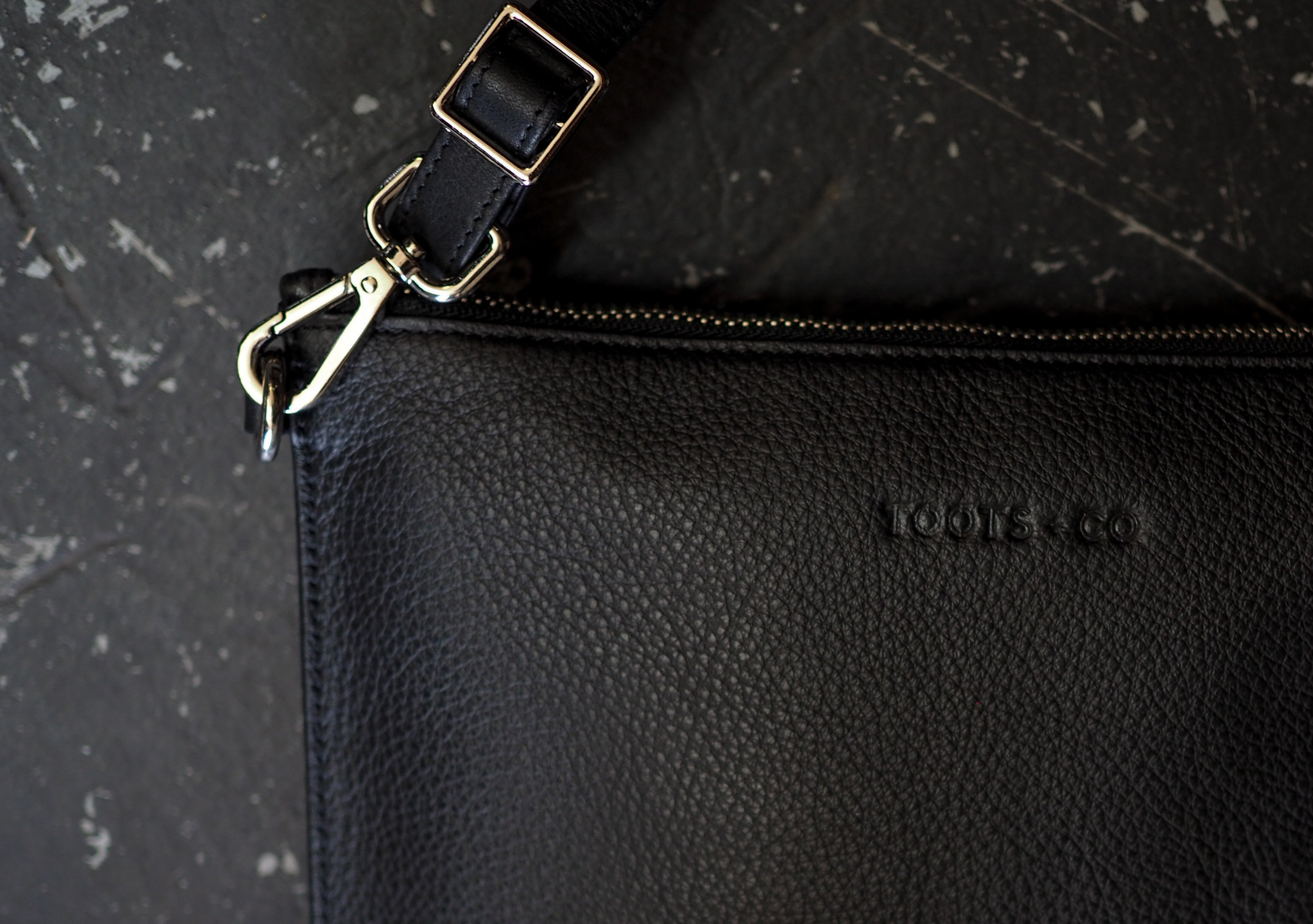 The Ultimate Cross Body  - Matt Black Full Grain Leather