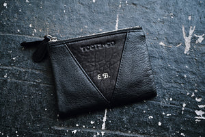 Sublime Double Zip Fold Wallet MONOGRAMMED - Matt Black Leather
