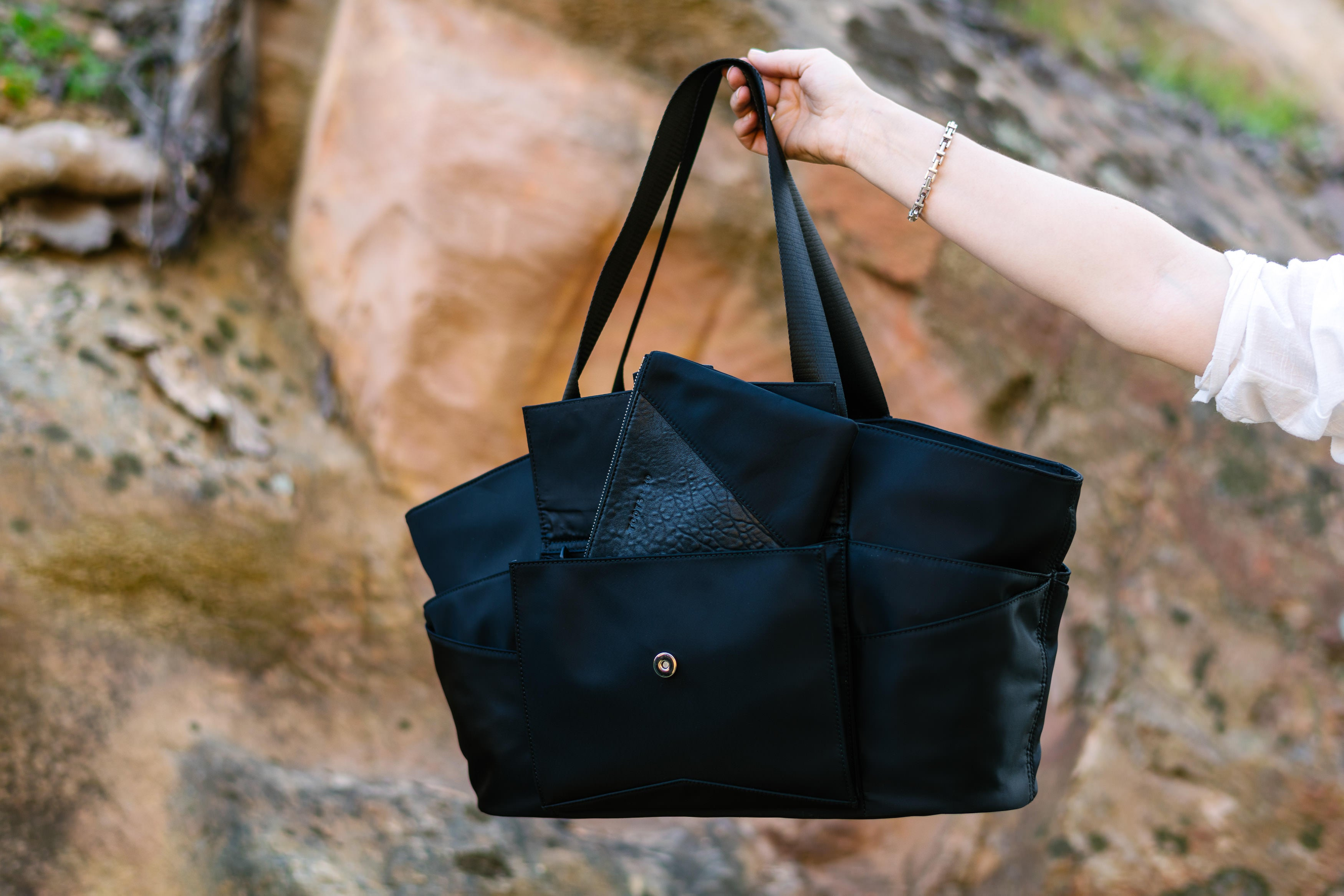 Pinnacle Slide Tote + Crossbody