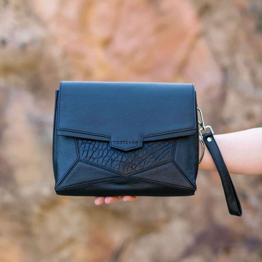 Orbit Cross Body - Matt Black Full Grain Leather
