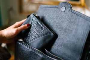 The Perfect Coin Purse - Matt Black Leather