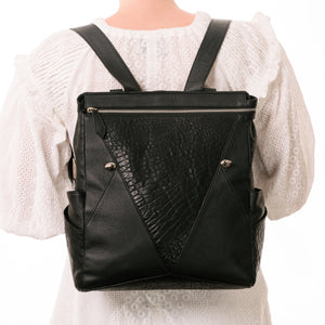 Leather Baby Bag Backpack