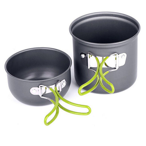 pot and pan bowls fordable camping non stick cookware