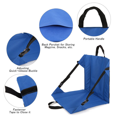 lightweight foldable trail chair blue all