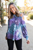 To The Moon And Back Caged Shoulder Top