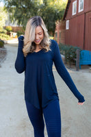 Everyday Long Sleeve Tee in Midnight Navy