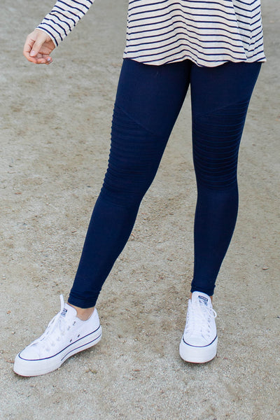 Moto Moto Navy Leggings