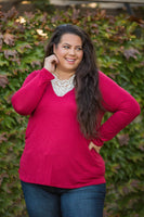 Entwined With You Long Sleeve Top in Red