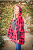 It's All About That Plaid Sherpa Poncho