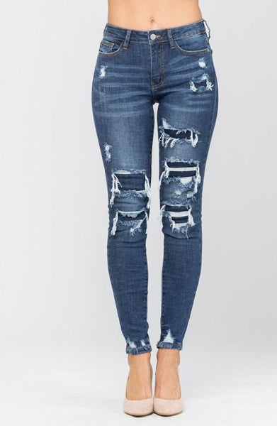 All Torn Up Judy Blue Skinnies