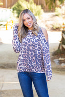 Roaring Around Cold Shoulder Pullover