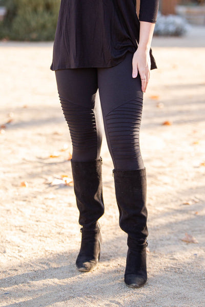 Moto Moto Black Leggings
